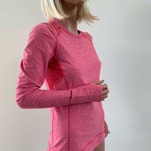 Lululemon long sleeve pink top 6